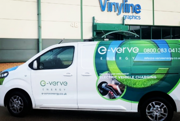 vinyline graphics, e-verve energy, ev chargers, ev charge points, north west, north wales, cumbria, st. helens